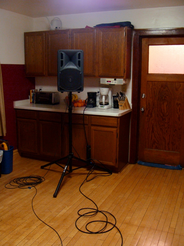 Left loudspeaker in Source Room
